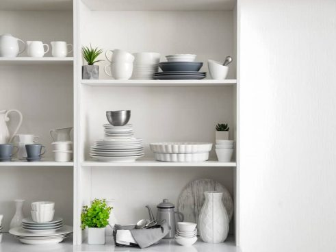 aesthetic pantry space